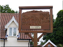 TM4077 : Holton Village sign by Adrian Cable