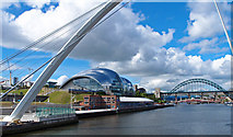 NZ2563 : River Tyne and bridges by wfmillar
