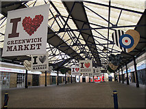 TQ3877 : Greenwich Market, after hours by Stephen Craven