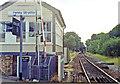 SP8834 : Fenny Stratford signalbox and station, 1991 by Ben Brooksbank