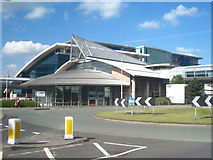 SJ8185 : Transport interchange at Manchester Airport by Rod Allday