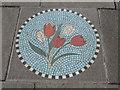 TL3800 : Mosaic, Churchyard, Waltham Abbey, Essex by Christine Matthews