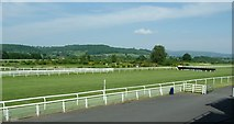 SO4977 : Ludlow Racecourse final straight by Peter Evans