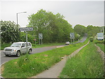 SE2853 : Otley Road (B6162) south west from Harrogate by peter robinson