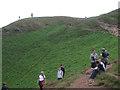 NT2773 : Sunday morning strolls and conversations on Arthur's Seat, Holyrood Park by Robin Stott