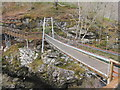 NH4458 : The Black Water suspension bridge by M J Richardson