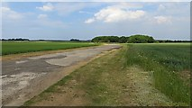 NT5080 : Airfield road, RAF Drem by Richard Webb