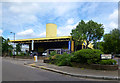 TQ2082 : Yellow Building, Barrets Green Road by Des Blenkinsopp