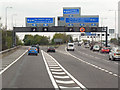 SP1986 : Northbound M42, Junction 7 (for M6) by David Dixon