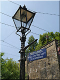 SK3455 : Gas Lamp, Crich Tramway Village by David Dixon