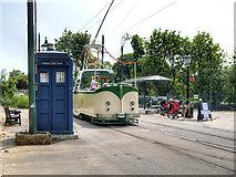 SK3454 : Town End Tram Terminus, Crich Tramway Village by David Dixon