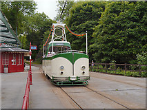 SK3455 : Blackpool Boat Car at Wakebridge Tram Stop by David Dixon