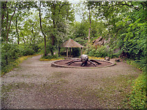 SK3455 : Woodland Path and Sculpture Trail, Crich Tramway Village by David Dixon