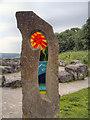 SK3455 : Standing Stone, Crich Tramway Village Sculpture Trail by David Dixon