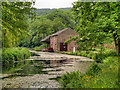 SK3155 : Cromford Canal, Wharf Shed at High Peak Junction by David Dixon
