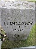 SN7215 : Llangadock 11 Mile Stone by Adrian Dust