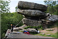 SE2064 : Climbers on Brimham Rocks by Philip Halling