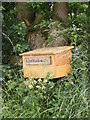 TM3275 : Linstead Hall Letterbox & sign by Adrian Cable
