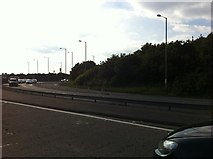 SJ4809 : The A5 at the Bayston Hill roundabout by Darrin Antrobus
