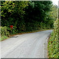 SO3206 : Rural postbox, Goytre by Jaggery