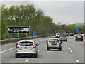 SP2762 : Northbound M40 near Longbridge by David Dixon