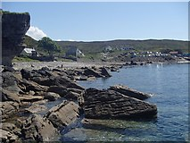 NG5113 : Beach view to the lower section of Elgol village by Andrew Hill