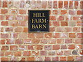 TM3373 : Hill Farm Barn sign by Adrian Cable