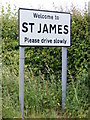 TM3081 : St.James sign on Metfield Road by Adrian Cable