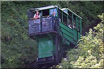 SS7249 : Lynton and Lynmouth cliff railway by Steve Daniels
