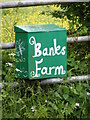 TM3480 : Banks Farm sign by Geographer