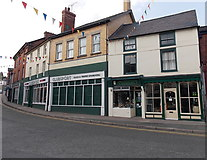 SO2956 : Church Street and High Street shops, Kington by Jaggery