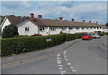 SO2956 : Llewellin Road houses, Kington by Jaggery