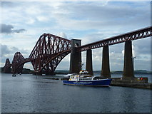 NT1378 : The 'Forth Belle' docks at the Hawes Pier by kim traynor