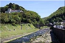 SS7249 : The Lyndale Bridge over the River Lyn by Steve Daniels