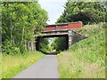 NT2963 : Bridge over cycleway, Rosewell by Jim Barton