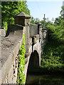 NT0776 : Craigton canal bridge - detail by Alan Murray-Rust
