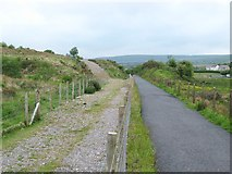 SN7313 : Cefnbrynbrain Cycle Path by Nigel Davies