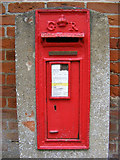TM4077 : Post Office Mill Road George V Postbox by Adrian Cable