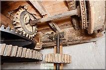TM1678 : Billingford Mill - Sack hoist drive by Ashley Dace