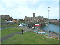 NT6779 : Harbour and castle ruins, Dunbar by John Lord