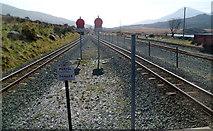 SH5752 : Two lines into one, Rhyd Ddu railway station by Jaggery