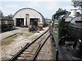 ST0841 : 'Swindon' shed, Williton Works by Roger Cornfoot