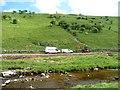 SD8880 : Roadworks in Langstrothdale by Christine Johnstone