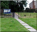 ST2890 : Yeo Close entrance to the Parish Church of St Davids Bettws, Newport by Jaggery