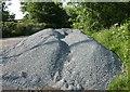 SS8426 : Gravel near Yeo Mill Bridge by Derek Harper