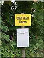 TM3684 : Old Hall Farm sign by Adrian Cable