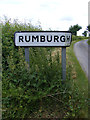 TM3683 : Rumburgh sign by Adrian Cable