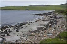 HP5605 : Small sandy beach on the north side of Houllnan Ness, Westing by Mike Pennington