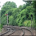 SK9803 : Ketton: signals old and newish by John Sutton