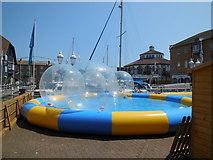 TQ3303 : Water Spheres, Brighton Marina by Paul Gillett